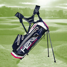 Sun Mountain H2NO Waterproof Lite Golf Stand Bag Navy/White/Hot Pink Dual Strap