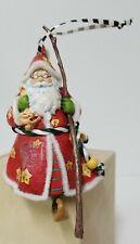 Mary Engelbreit Christmas Ornament Whimsical Cherry Santa W/Walking Stick Me Ink