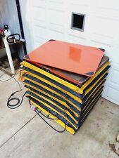 New Listing2500lb Hydraulic Scissor Lift Table 40x48 Rotating Turn Top 110v 1ph Pendant