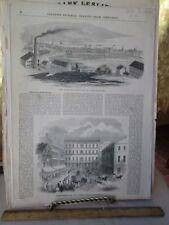 Vintage Print,2 VIEWS,Providence,Rhode Island,1853