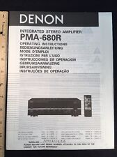 Denon PMA-680R Integrated Amplifier Original Owners Manual Combined Language A16