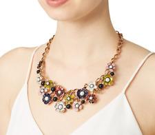 Multicolor Flower enameled Pearl Necklace 890$ Auth Oscar De La Renta