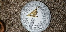 "Vintage ""Flora & Fauna"" 11.5"" Sundial ~ Grow Old With Me Best Is Yet To Be"