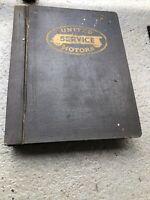 1935-58 Gm United Service Motors Dealer Book