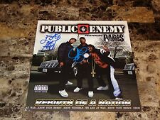 Public Enemy Signed Vinyl Record Rebirth Of A Nation Chuck D Flavor Flav + Photo