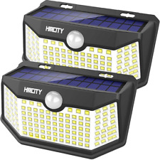 New Solar Lights Outdoor 120 LED with Lights Reflector and 3 Lighting Modes, Mot