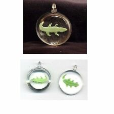 3 D LIZARD GLASS art  Pendant bead Lampwork Drop charm  # 480UVW