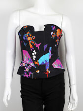 ICONIC VERSACE FOR H&M WOMEN'S SILK CORSET TOP SIZE US6 EUR34 RARE