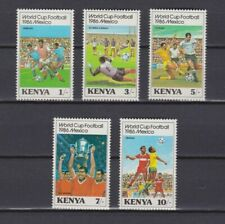 s6043)KENYA 1986 MNH* W.C. Football 1986-C. M. Calcio 5v.