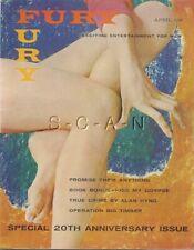 Vintage Fury Pinup Magazine- 20th Anniversary Issue- Marilyn Monroe- April 1962