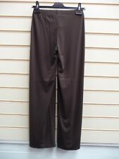 LADIES TROUSERS BROWN SIZE 6 SHORT JERSEY STYLE SMART CASUAL BNWT (G018