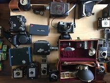 VINTAGE-FILM-MOVIE-POLAROID-CAMERAS-LOT-OF-19