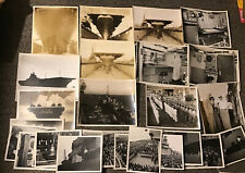Us Navy Uss Kearsarge Cv-33 Photo Lot Construction/ Dedication 1946 Korean War