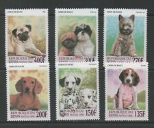 Thematic Stamps Animals - BENIN 1998 DOGS 6v mint