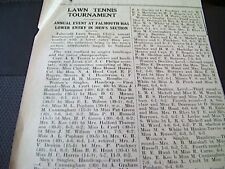 64-3 1939 ephemera falmouth article lawn tennis august results