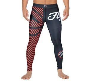 Fuji Sports Script MMA BJJ No Gi Competition Spats Compression Pants - Red