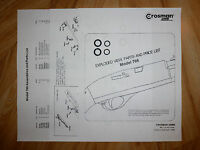 Crosman 766 Two (2) O-Ring Seal Kits +Exploded View & Parts List +Seal ID Guide