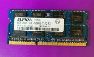 Elpida 8GB DDR3 2Rx8 1.35V PC3L-12800S  EBJ81UG8EFU0-GN-F Laptop RAM Memory