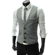 Hombre Chaleco Formal Negocios Wedding Dress Suit Camiseta Ajustado Chaqueta