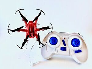 Smart 2.4 GHZ 6 Axis Gyro Hexacopter 4CH Remote Control Mini Drone, Red