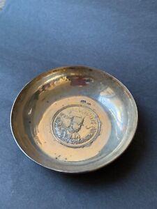 persian silver bowl , Pahlavi, 80 gr
