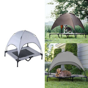 Elevated Dog Bed w/ Removable Canopy Portable Camping Puppy Cats Rabbit Bed
