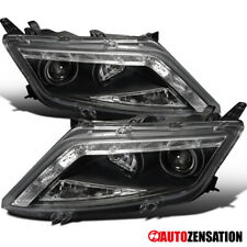 For 2010-2012 Ford Fusion Black Projector Headlights Lamp w/ LED DRL Strip