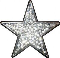 SILVER STAR with Rhinestones Belt Buckle western