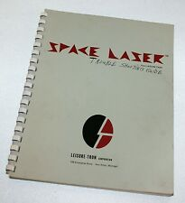 Vtg Space Laser Video Game Service Operation Manual Book Repair Trouble Shooting