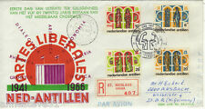 NETHERLANDS ANTILLES REG AIRMAIL FDC 25 YEARS OF SECONDARY EDUCATION