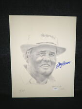 Masters Champion Gay Brewer Signed Autographed Lithograph Pencil Sketch JSA