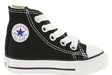 Converse Chuck Taylor All Star Black White Hi Canvas Infant Toddler Boy Girl