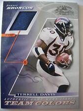 2001 DONRUSS CLASSICS TEAM COLORS TERRELL DAVIS, BRONCOS !! BOX 30