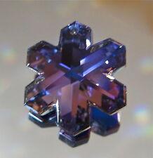 Swarovski Bermuda Blue Snowflake Prism Pendant Ornament 20mm Retired logo