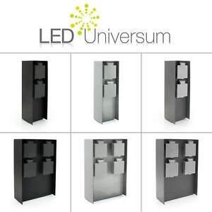 LED Universum Garten Steckdose Energie Säule Strom Außen Edelstahl IP44 Terrasse