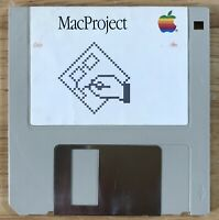 1984 Macintosh M0001 128K Apple Macintosh MacProject 1.0 Disk Mac 512K WORKING!