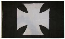 3x5 German Iron Maltese Cross Black Background 3'x5' Polyester Flag Banner