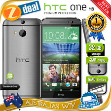 (NEW SEALED BOX) HTC ONE M8 32GB 4G LTE GREY 100% UNLOCKED PHONE + 12MTH AUS WTY