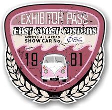 RETRO EFFETTO INVECCHIATO personalizzata auto da show EXHIBITOR passaggio 1981 VINTAGE Adesivo Vinile Decalcomania