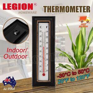 THERMOMETER Indoor Outdoor Temperature Wall Hanging Room Sensor Garden 5×16cm