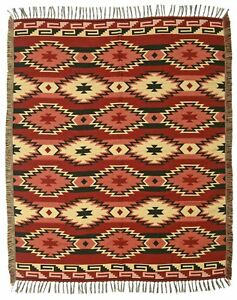 Diamond Authentic Mexico Accent Throw Native Style Blanket 4'x5' Southwest Lodge