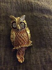 Gorgeous Owl Pin Great Details !