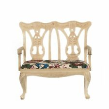 Miniature Dollhouse Unfinished Double Chair 1:12 Scale New