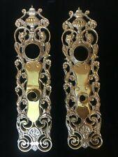 """Bramante"" Russell & Erwin Lost Wax Reproduction Bronze Victorian Door Plates"
