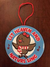 Let Heaven and Nature Sing! Girl Bird w/Scarf Christmas Ornament Foam Craft Kit
