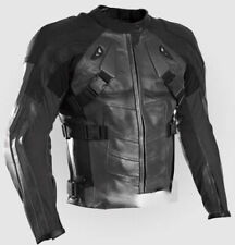 BLACK DEAD POOL COMIC MOTORBIKE RACING LEATHER JACKET CE APPROVED