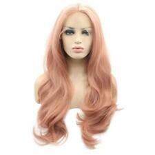 d59209d2b Arimika Wig 26inch Long Wavy Layered Pink Heat Safe Synthetic Hair Lace  Front