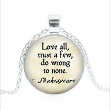 Glass dome Necklace chain Pendant Wholesal Love all, trust a few Tibet silver