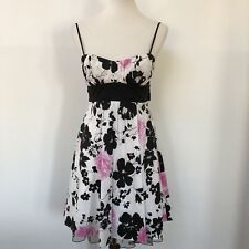 Trixxi Womens Small Multicolor Floral Dress With Adjustable Straps