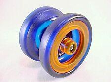 Blue Orange Grind Machine Yo Yo From The YoYoFactory + 3 NEON STRINGS YE/OR/GRN